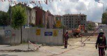 Eyüp'te metro inşaatında doğalgaz borusu patladı
