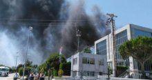 İstanbul Silivri'de korkutan yangın