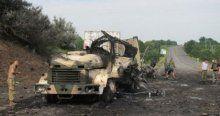 Ukrayna'da mühimmat yüklü askeri araç patladı