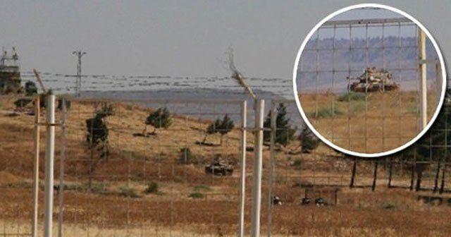 Tankların namluları Suriye'ye çevrildi