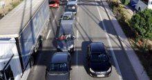 Afyonkarahisar'da 4 kilometrelik araç kuyruğu