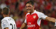 Arsenal'de Mesut coştu kupa geldi