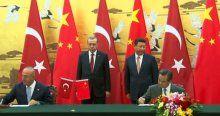 Çin'le 3 anlaşma imzalandı
