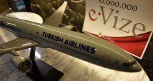 E-vize sahibi 10 milyonuncu yolcuya karşılama töreni