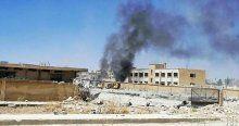 Kobani'de patlama meydana geldi