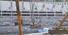 Vodafone Arena'da iskele çöktü