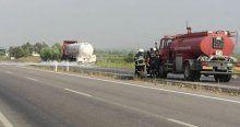 Alaşehir-Denizli karayolu trafiğe kapatıldı