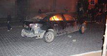 Iğdır'da teröristler araçları ateşe verdi