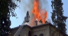 Kilis Müzesi'nin çatısında yangın çıktı