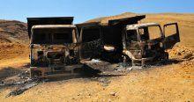PKK şantiye bastı, araçları ateşe verdi