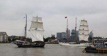 Tarihi yelkenliler Londra'dan geçti