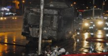 TOMA'ya saldırı, 1 polis yaralandı