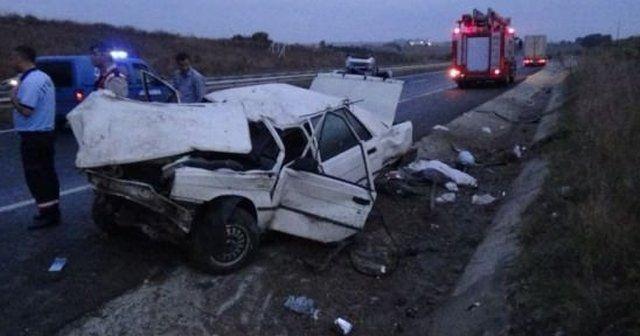 Çerkezköy yolunda trafik kazası, 1 ölü, 4 yaralı