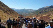 Köylüler PKK'yı protesto etti