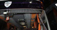 Manisaspor otobüsüne taşlı saldırı