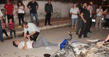 Samsun'da 2 motosiklet kafa kafaya çarpıştı, 2 yaralı