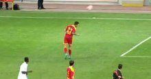 Trabzonspor maçında ilginç pozisyon