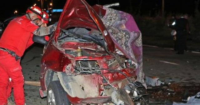 Rize'de trafik kazası, 2 ölü, 5 yaralı