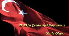 29 Ekim Cumhuriyet Bayramı'nız kutlu olsun