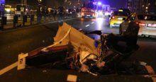 Bakırköy'de feci kaza,  1 ölü, 2 yaralı