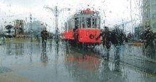 İstanbul'a beklenen yağmur sabah saatlerinde geldi