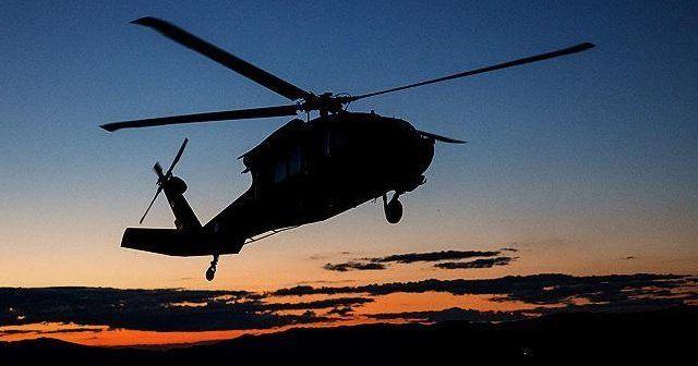 Bayırbucak'ta Rus helikopteri düşürüldü