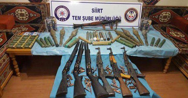 Türbede PKK cephaneliği bulundu