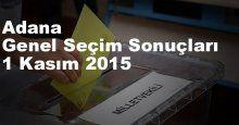 Adana Seçim Sonuçları, 2015 Genel seçim sonuçları