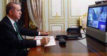 Erdoğan liderlerle telekonferans yaptı