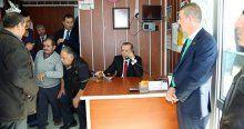 Erdoğan taksi durağını ziyaret etti