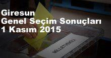 Giresun Seçim Sonuçları, 2015 Genel seçim sonuçları