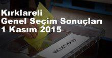Kırklareli Seçim Sonuçları, 2015 Genel seçim sonuçları