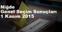 Niğde Seçim Sonuçları, 2015 Genel seçim sonuçları