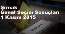 Şırnak Seçim Sonuçları, 2015 Genel seçim sonuçları