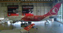 THY'nin 'Türkiye'ye yatırım yapın' logolu uçağı tanıtıldı