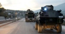 Türk tankları sınırda nöbette