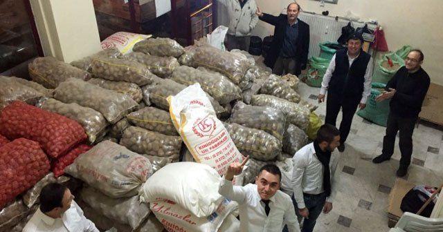 Türkmenlere 10 ton patates