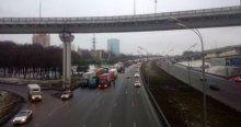 Moskova'da TIR şoförleri eylemde