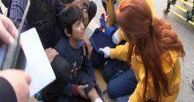 Suriyeli çocuğa çarpan motosiklet sürücüsü kaçtı