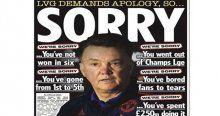 Van Gaal'e imalı 'özür' cevabı