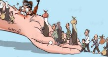Filistinli ressamdan çarpıcı Sultanahmet karikatürü