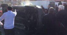 Olay yerine giden polis ekipleri kaza yaptı