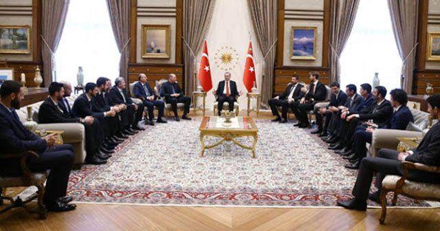 Erdoğan '12 Dev Adam'ı konuk etti