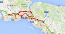 İstanbul trafik durumu burada yollar yine felç oldu 12 Şubat 2016 trafikte son durum