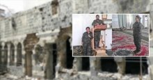 YPG'li teröristler camileri talan etti