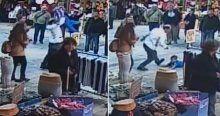 İzmir'de seyyar satıcıdan çocuğa darp
