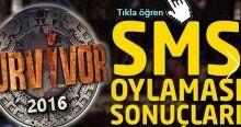 Survivor 2016 kim elendi kim elenecek, sms oy sıralaması öğren, Ebru Öztürk elendi mi