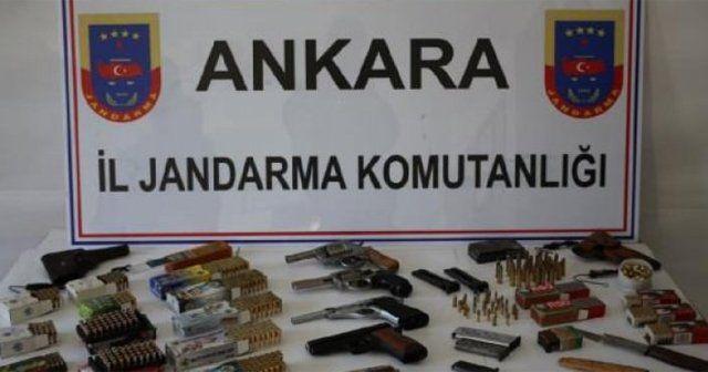 Ankara'da çok sayıda mühimmat ele geçirildi