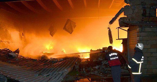 İplik fabrikasındaki yangın 8 saatte kontrole alındı