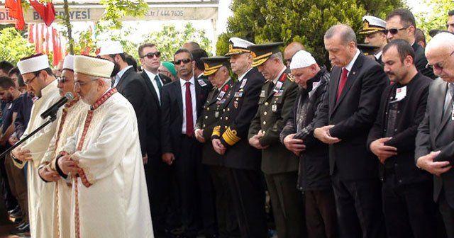 Şehidin cenaze törenine Erdoğan da katıldı